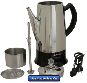 Cuisinart Coffee Maker Funny Taste : Cuisinart PRC-12 Classic 12-Cup Percolator Review Percolator Coffee Pot